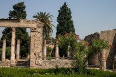 Pompeji-Ruinen und -gärten Lizenzfreie Stockbilder