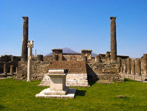 Pompeji und Vesuv stockfotos
