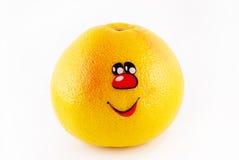 pompelmo con un sorriso Fotografia Stock Libera da Diritti