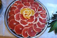Pompelmo della scelta e fiore arancio Fotografia Stock Libera da Diritti