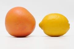 Pompelmo e limone Immagini Stock