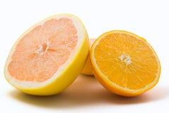 Pompelmo ed arancio Immagine Stock Libera da Diritti