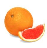Pompelmo isolato della frutta su un fondo bianco Fotografia Stock