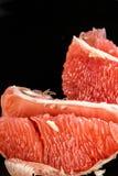 Pompelmo rosso sbucciato Fotografia Stock Libera da Diritti
