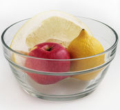 Pompelmoes, citroen en appel Royalty-vrije Stock Fotografie