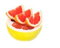 Pompelmoes en grapefruit Stock Foto's