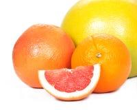 Pompelmoes, grapefruit, sinaasappel, mandarijn Royalty-vrije Stock Afbeeldingen