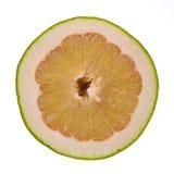 Pompelmoesfruit op witte achtergrond wordt geïsoleerd die Royalty-vrije Stock Fotografie