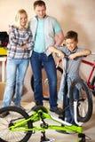 Pompend fietswiel Royalty-vrije Stock Foto's