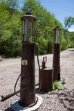 Pompes à gaz abandonnées Photos libres de droits