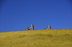 Pompes à huile dans le Dakota du Nord occidental Photographie stock