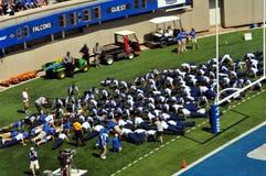 Pompes de touchdown Images stock
