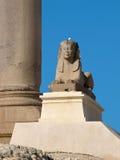 Pompey`s Pillar in Alexandria. Pompey Pillar - Roman ancient monuments in Alexandria (Egypt stock photos