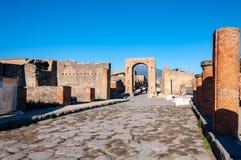 Pompeya, el mejor sitio arqueol?gico preservado del mundo, Italia E imágenes de archivo libres de regalías