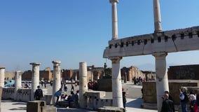 Pompeya es el hogar de las ruinas romanas antiguas, parte de los sitios del patrimonio mundial de la UNESCO Está situado cerca de almacen de metraje de vídeo