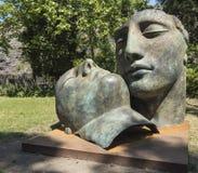 Pompeya, Italia 22 de mayo 2016 Exposición de 30 estatuas a AR Fotos de archivo libres de regalías