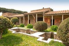 Pompeya - Roma antigua - casa de Octavius Quatro Imágenes de archivo libres de regalías