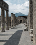 Pompeya y montaje Vesuvio Imagen de archivo
