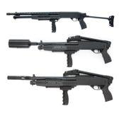 Pompez le ramassage de fusil Images stock