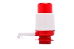Pompez pour le distributeur de l'eau d'isolement sur le blanc Photographie stock libre de droits