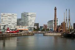 Pomphuis, Sluw Dok, Liverpool, het UK royalty-vrije stock fotografie