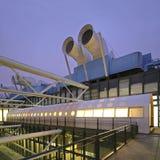 Pompidou center in Paris, France. Royalty Free Stock Photo