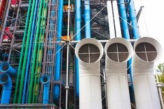 Pompidou centre in France Royalty Free Stock Image