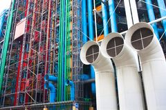 Pompidou centre in France Royalty Free Stock Images