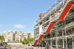 Pompidou Centre in Paris Royalty Free Stock Image