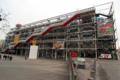 Pompidou centrerar i Paris, Frankrike Royaltyfria Bilder