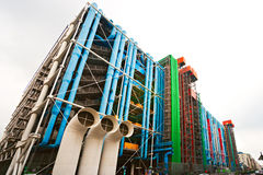 The Pompidou cultural center in Paris, France Stock Photography