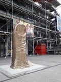 Pompidou-Mitte und der Cesar lizenzfreie stockfotos