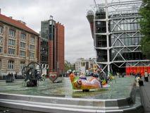 Pompidou in Paris Stock Images