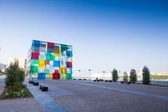 Pompidoumuseum in Malaga, Spanje stock afbeelding