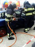 Pompier au travail Photos stock