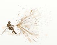 Pompier d'aquarelle Image stock