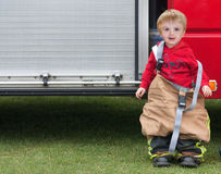 Pompier de garçon Photographie stock libre de droits