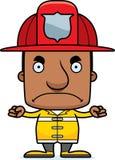 Pompiere arrabbiato Man del fumetto Fotografia Stock Libera da Diritti