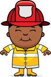 Pompiere del ragazzo Fotografia Stock Libera da Diritti