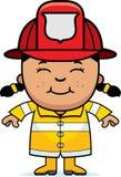 Pompiere della ragazza Fotografia Stock