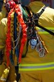 Pompiere e attrezzature di soccorso Fotografie Stock