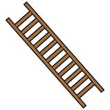 Pompiere Ladder Immagine Stock