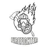 Pompiere Logo Nuovo Glasgow Fire Department Fotografia Stock Libera da Diritti
