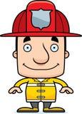 Pompiere sorridente Man del fumetto Fotografie Stock