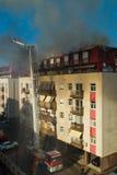 Pompieri nell'azione Fotografie Stock