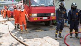 Pompieri o vigili del fuoco Fotografie Stock Libere da Diritti