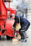 Pompiers dans l'action Photographie stock libre de droits