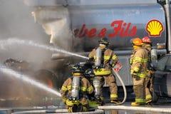 Pompiers en service Photos libres de droits