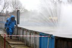 Pompiers pendant l'action Images libres de droits