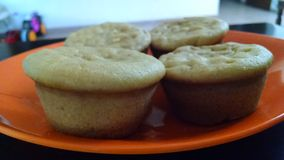 Pompoen cupcakes Stock Foto